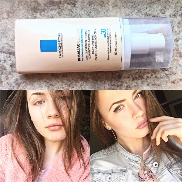 before after rosaliac cc cream la roche posay