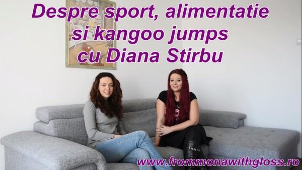 Despre sport, alimentatie si kangoo jumps cu Diana Stirbu FMWG