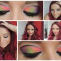 neon rainbow grafic